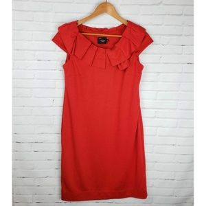 Just Taylor Red Ruffle Shift Dress